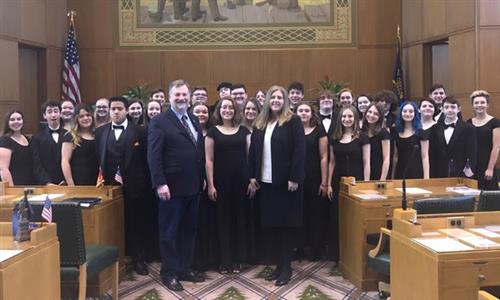Scappoose High School Choir Performs in Salem