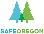 Safe Oregon Logo with trees