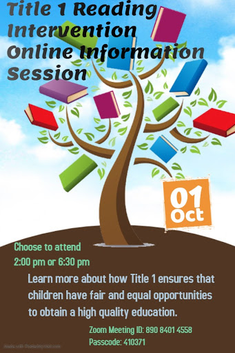 Title 1 Reading Intervention Online Information Session